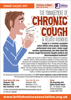 Management of chronic cough and related disorders - course poster