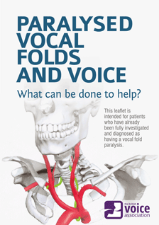 Paralysed Vocal Folds and Voice (leaflet cover)