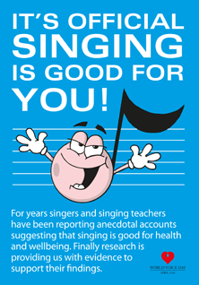Singing is good for you! (leaflet cover)