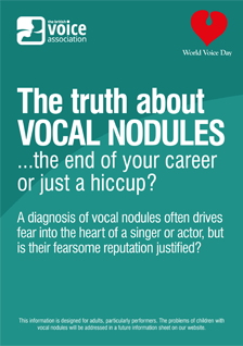 The truth about vocal nodules (leaflet cover)