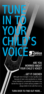 Tune in to your child's voice (leaflet cover)