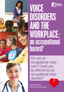 Voice disorders and the workplace (leaflet cover)