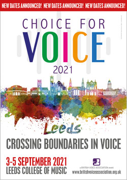 Choice for Voice 2021 new dates announced poster