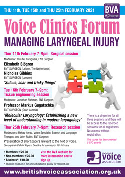 Voice Clinics Forum 2021 – poster