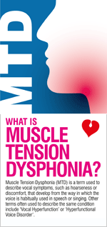 Muscle Tension Dysphonia - leaflet