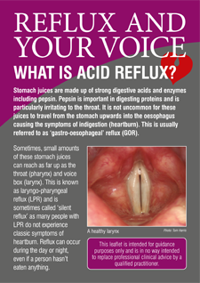 Reflux and Your Voice - leaflet
