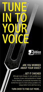 Tune in to your voice (leaflet cover)