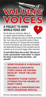 Valuing Voices - leaflet