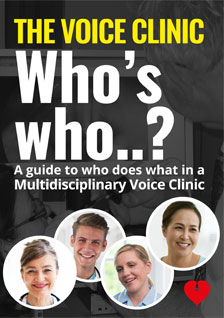 Voice Clinic Who's who? (leaflet cover)